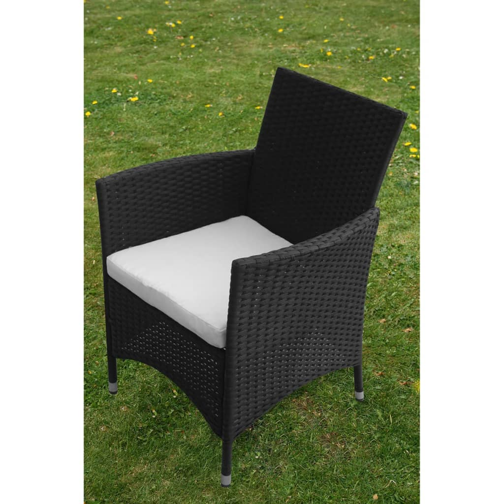 vidaxl 9 tlg gartenm bel set schwarz poly rattan g nstig kaufen. Black Bedroom Furniture Sets. Home Design Ideas