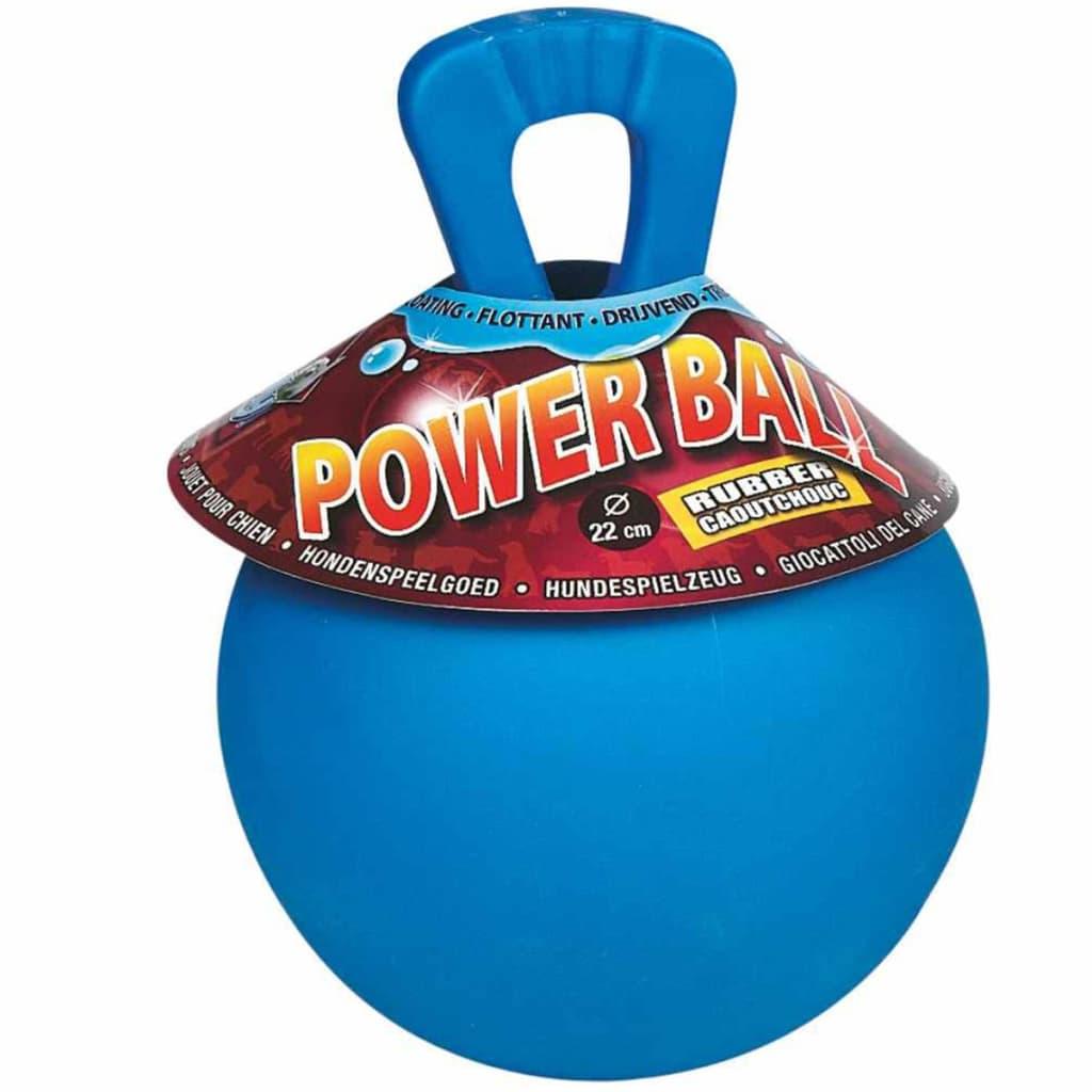 Afbeelding van FLAMINGO Hondenspeeltje Power Ball rubber blauw 22 cm 504197