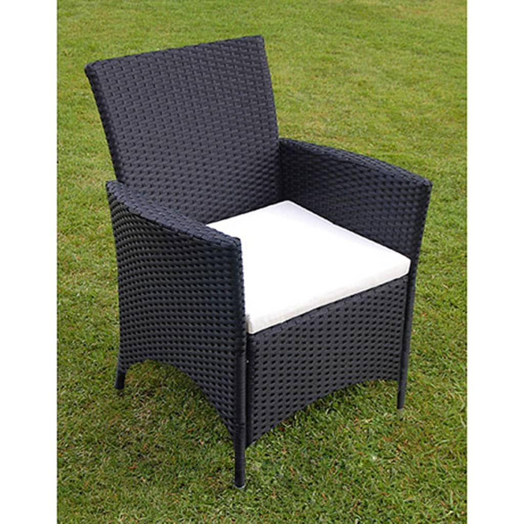 vidaxl 13 piece garden furniture set poly rattan black. Black Bedroom Furniture Sets. Home Design Ideas