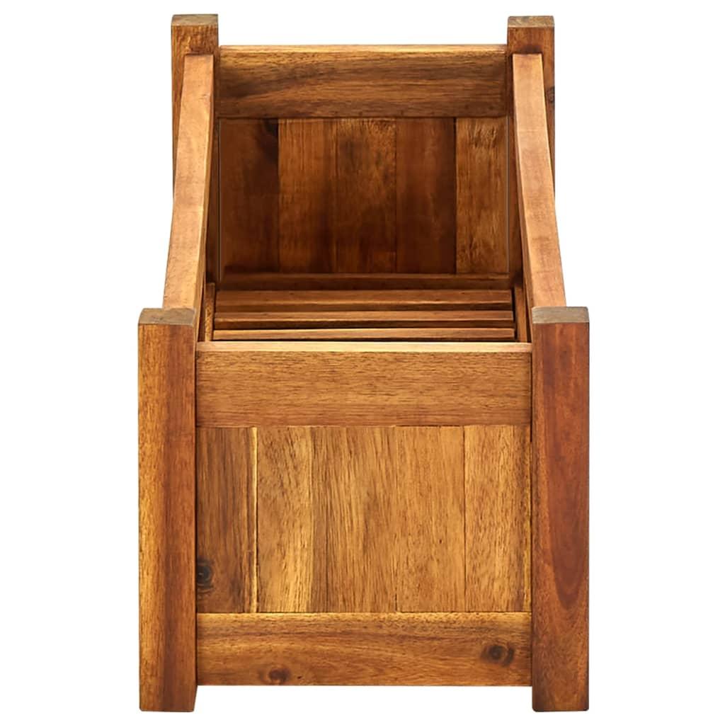 Vidaxl jardinera de madera de acacia 76x27 6x25 cm - Jardinera grande barata ...