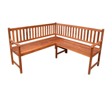 Garden Corner Bench Outdoor Park Bench Acacia Wood Oil Finished Deck Porch Yard Ebay