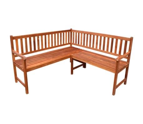 La boutique en ligne vidaXL Banc de coin de jardin en bois d ...