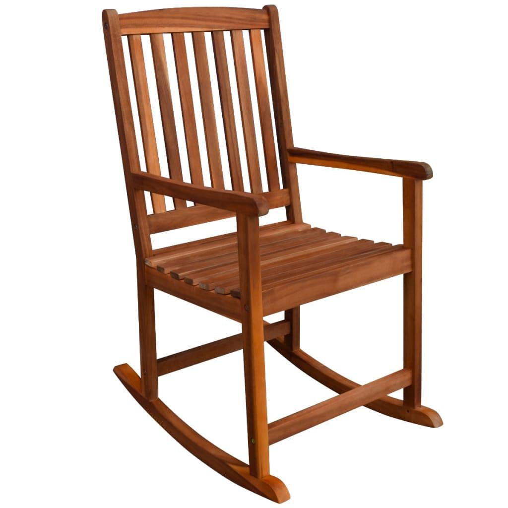 Acheter vidaxl chaise bascule pour jardin en acacia massif pas cher - Chaise a bascule pas cher ...