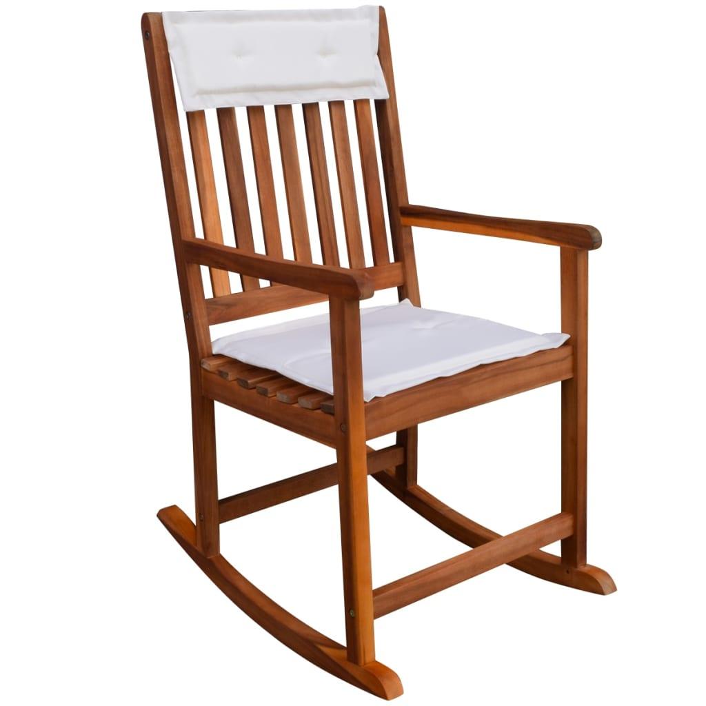 Vidaxl sedie a dondolo da giardino in legno acacia for Sedie a dondolo