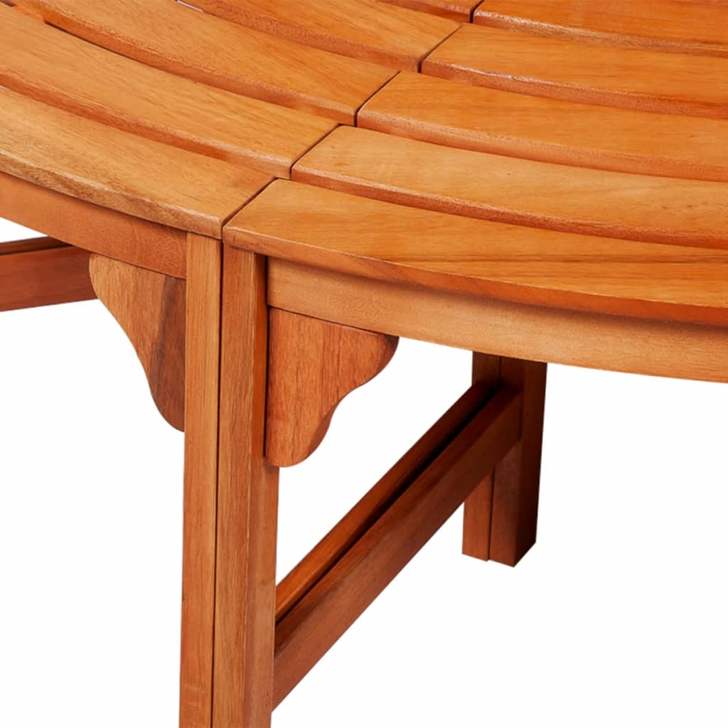 Vidaxl circular tree bench wood for Benches that go around trees