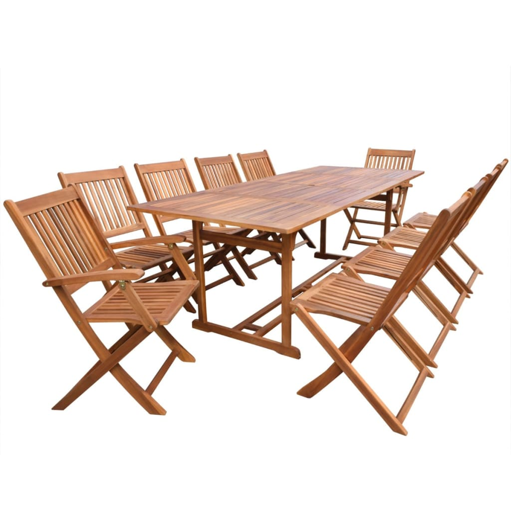 Giardino Collection Outdoor Dining: VidaXL 11 Piece Outdoor Dining Set Acacia Wood 220 Cm