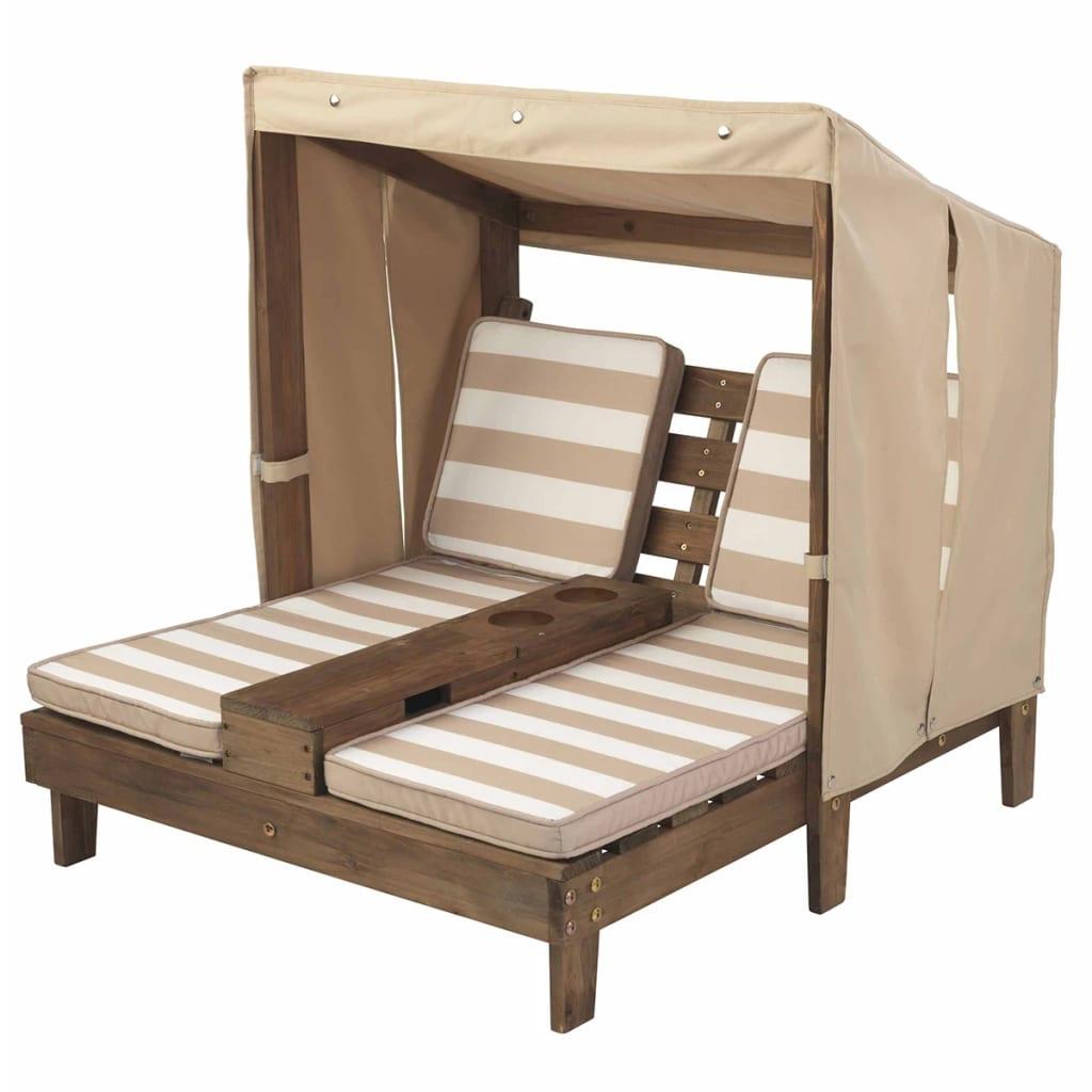 Afbeelding van KidKraft Ligbed voor kinderen dubbel hout beige 00534