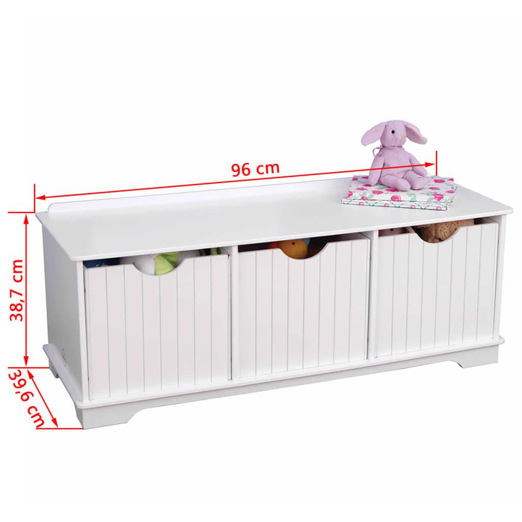 acheter kidkraft banc de rangement pour enfants blanc 96x39 6x38 7 cm 14564 pas cher. Black Bedroom Furniture Sets. Home Design Ideas