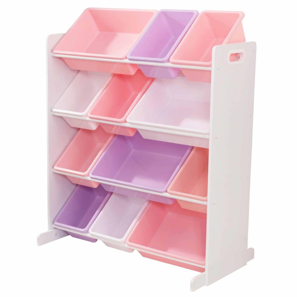 kidkraft aufbewahrungsregal sort it and store it 12 boxen wei 15450 im vidaxl trendshop. Black Bedroom Furniture Sets. Home Design Ideas