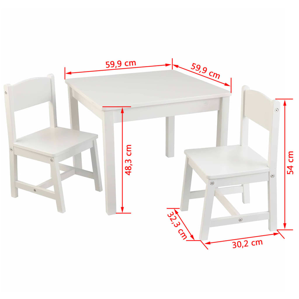 kidkraft ensemble de table et chaises en bois pour enfants blanc 21201 ebay. Black Bedroom Furniture Sets. Home Design Ideas