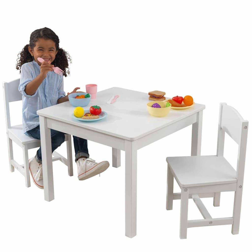 Kidkraft ensemble de table et chaises en bois pour enfants - Ensemble table et chaise bois ...