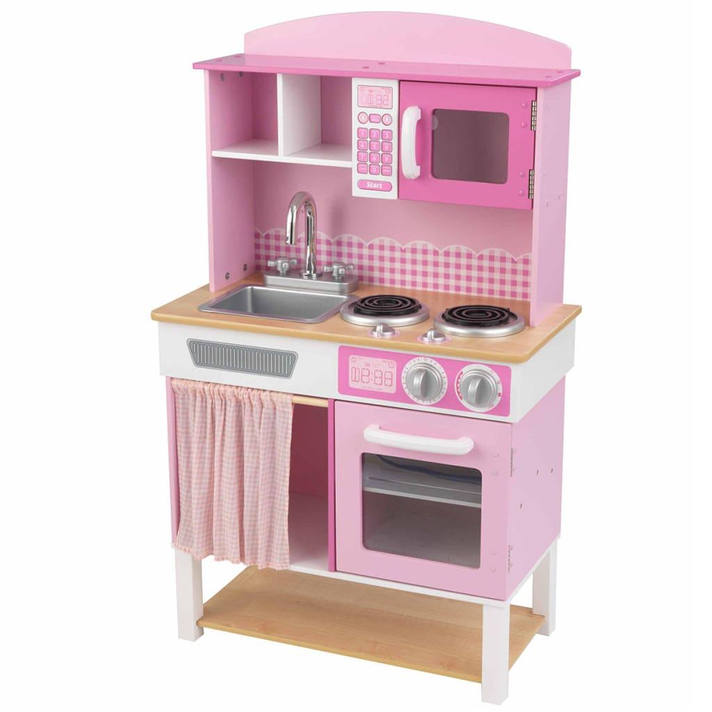 Afbeelding van KidKraft Speelgoed keuken home Cookin' 61x34x101 cm roze 53198