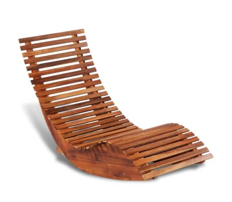 Outdoor Rocking Chair Acacia Wood Recliner Reclining Wooden Patio