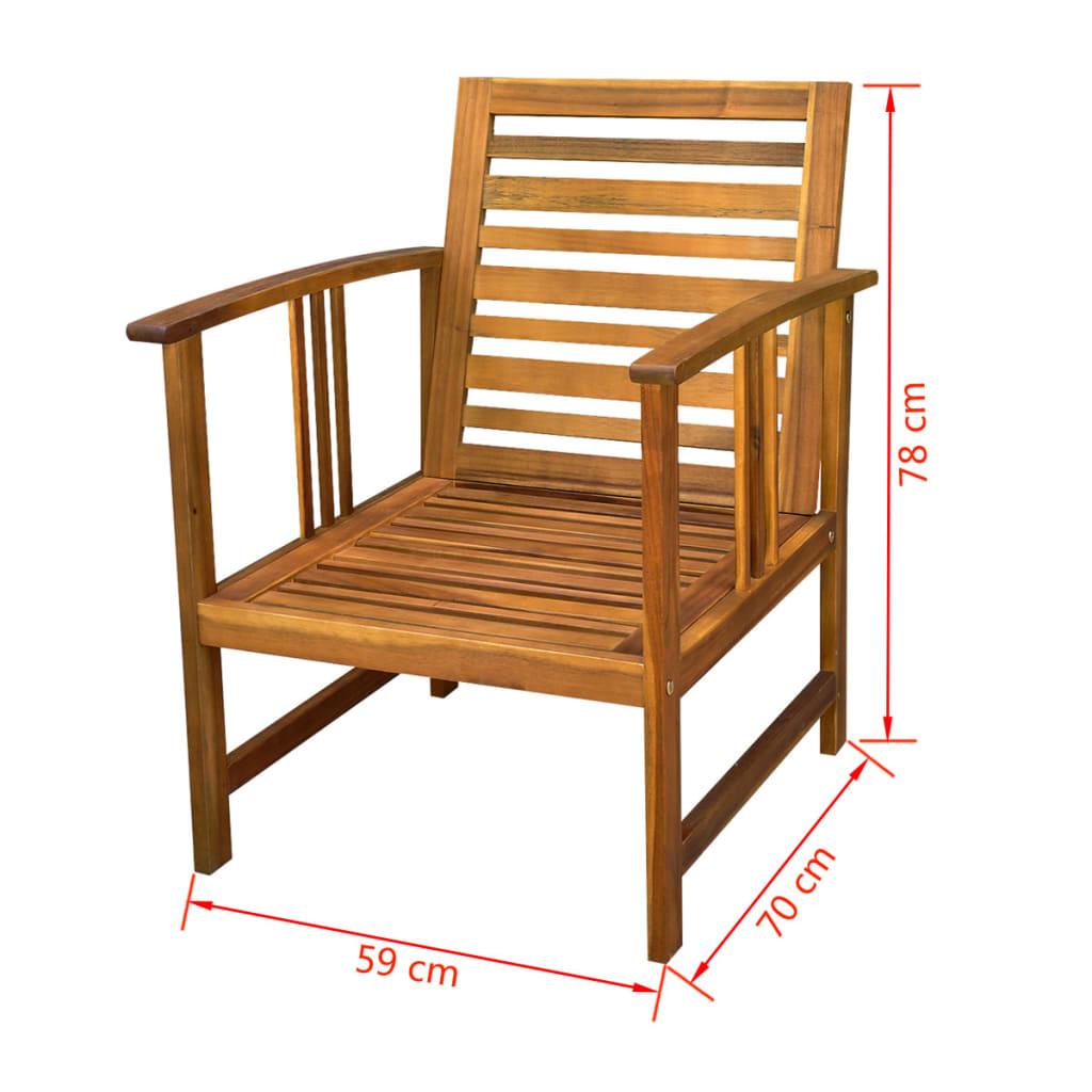 la boutique en ligne vidaxl ensemble meuble de jardin en bois d 39 acacia 10 pcs. Black Bedroom Furniture Sets. Home Design Ideas