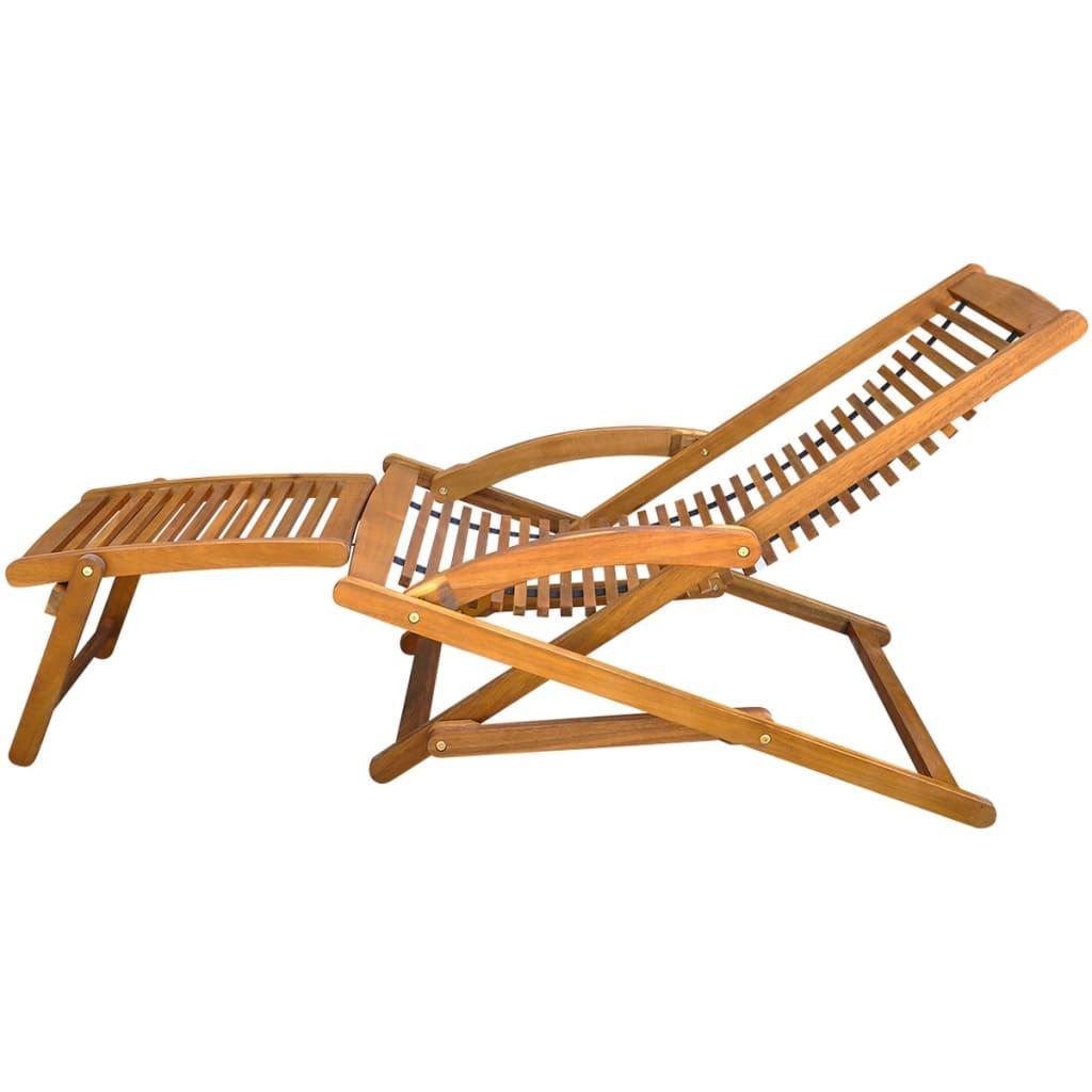 acheter vidaxl chaise de terrasse avec repose pieds en. Black Bedroom Furniture Sets. Home Design Ideas