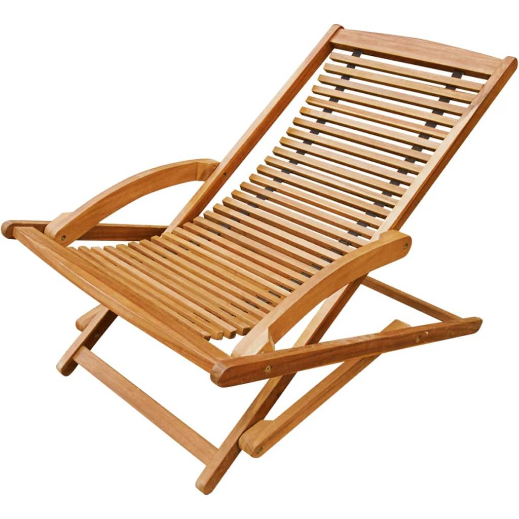 Acheter vidaxl chaise de terrasse avec repose pieds en for Chaise longue en bois avec repose pied