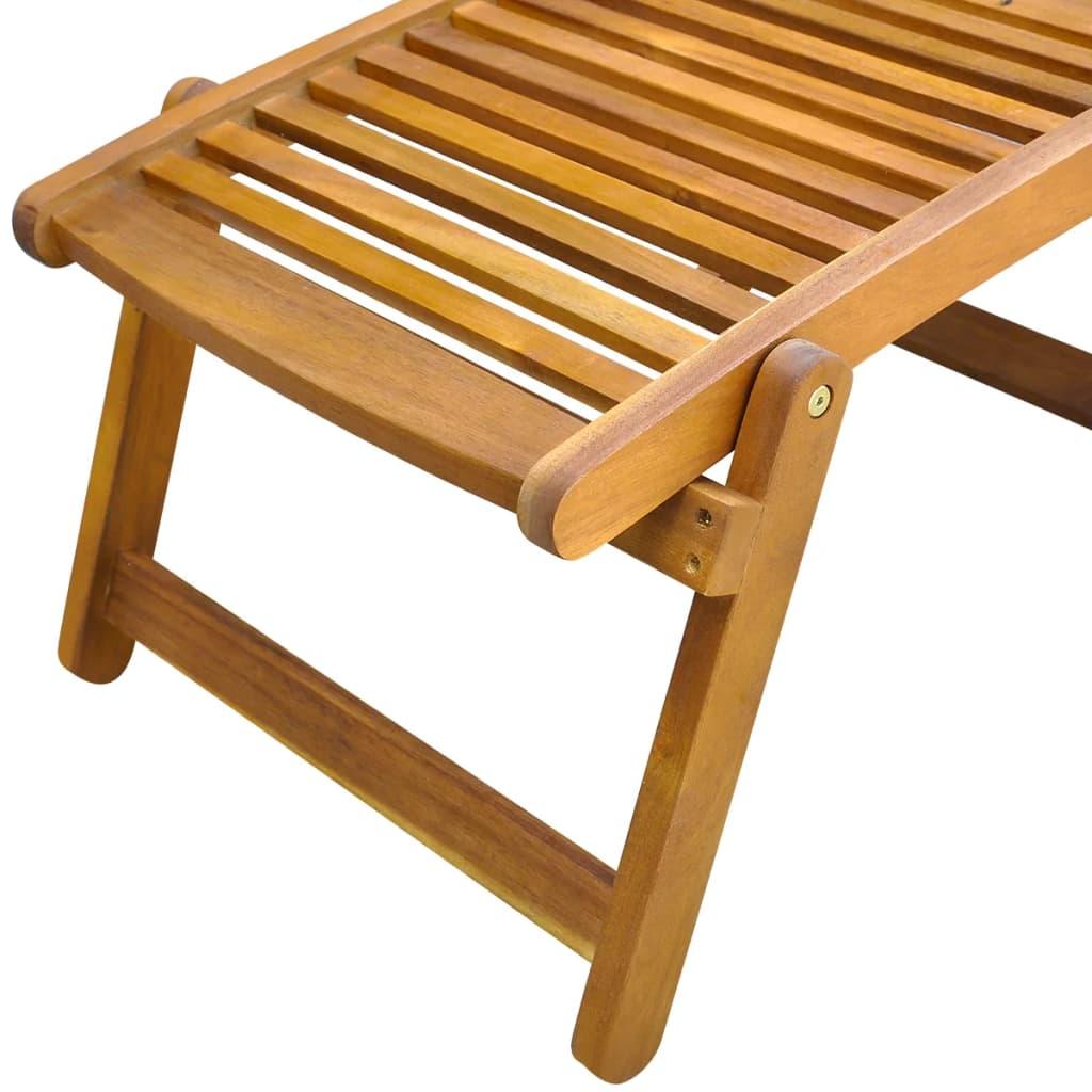 acheter vidaxl chaise de terrasse avec repose pieds en bois d 39 acacia pas cher. Black Bedroom Furniture Sets. Home Design Ideas