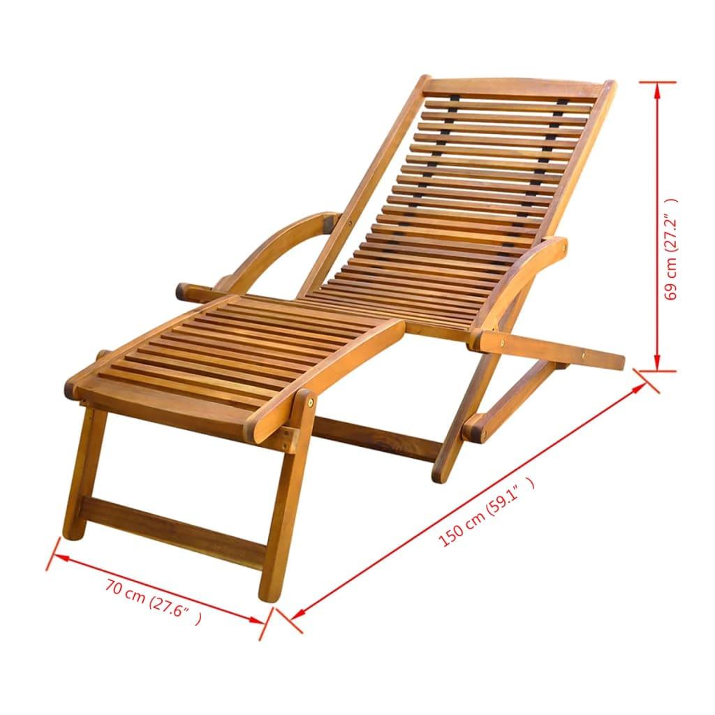 Acheter vidaxl chaise de terrasse avec repose pieds en - Chaise avec repose pied ...