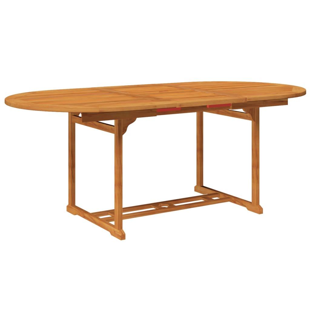 vidaxl 7 tlg gartenm bel set essgruppe holz g nstig kaufen. Black Bedroom Furniture Sets. Home Design Ideas