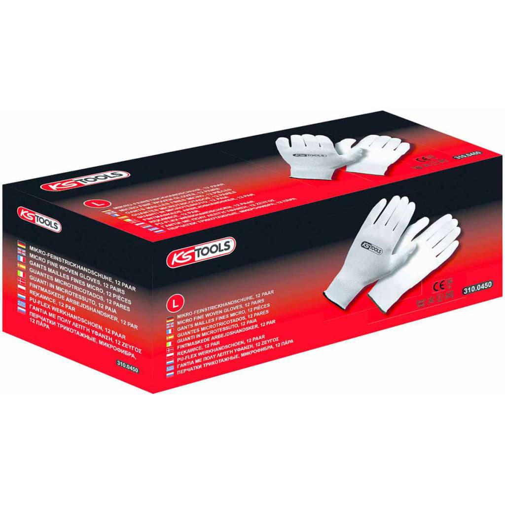 ks tools work gloves 12 pairs size l white. Black Bedroom Furniture Sets. Home Design Ideas