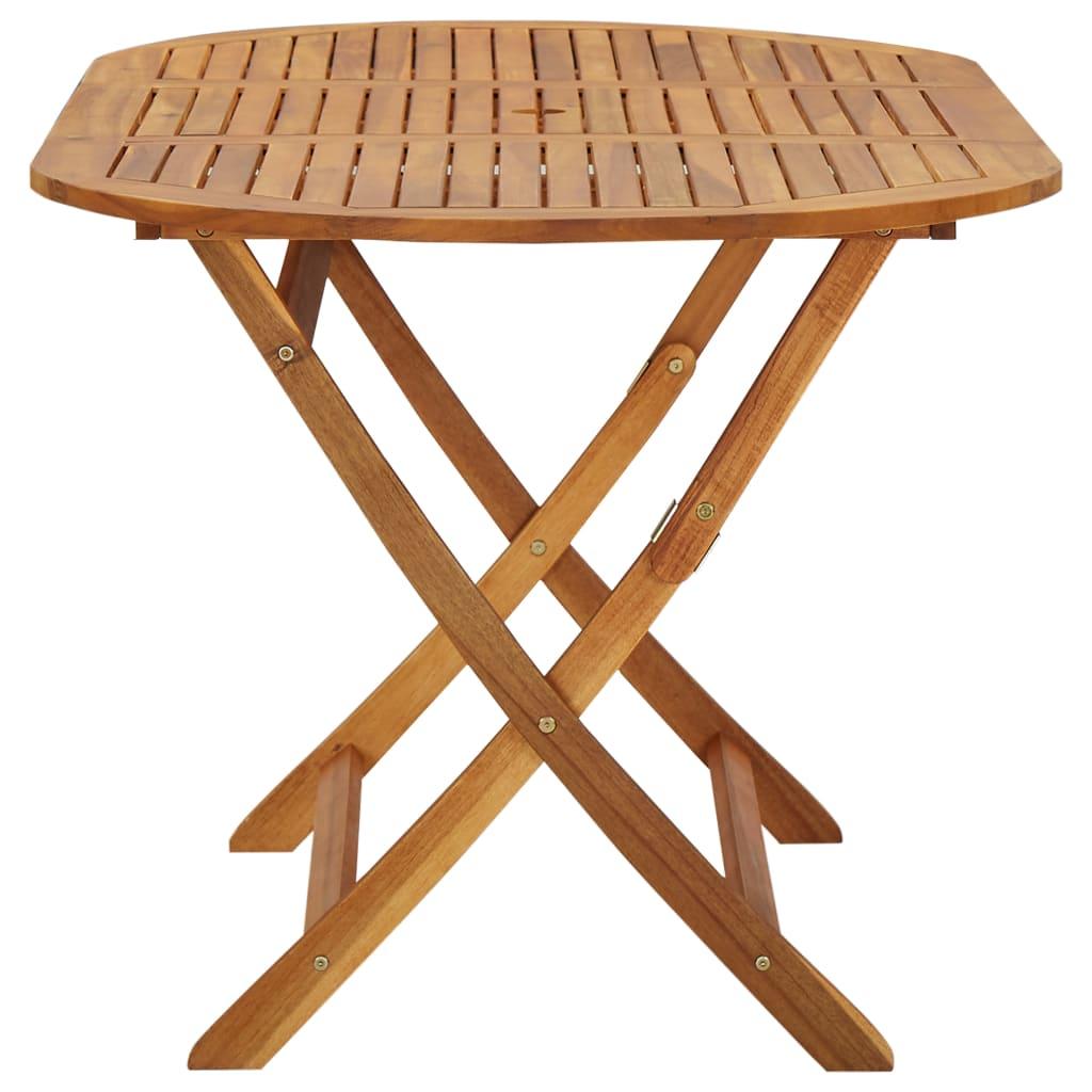 Vidaxl mesa de comedor exterior madera de acacia - Mesa de madera exterior ...
