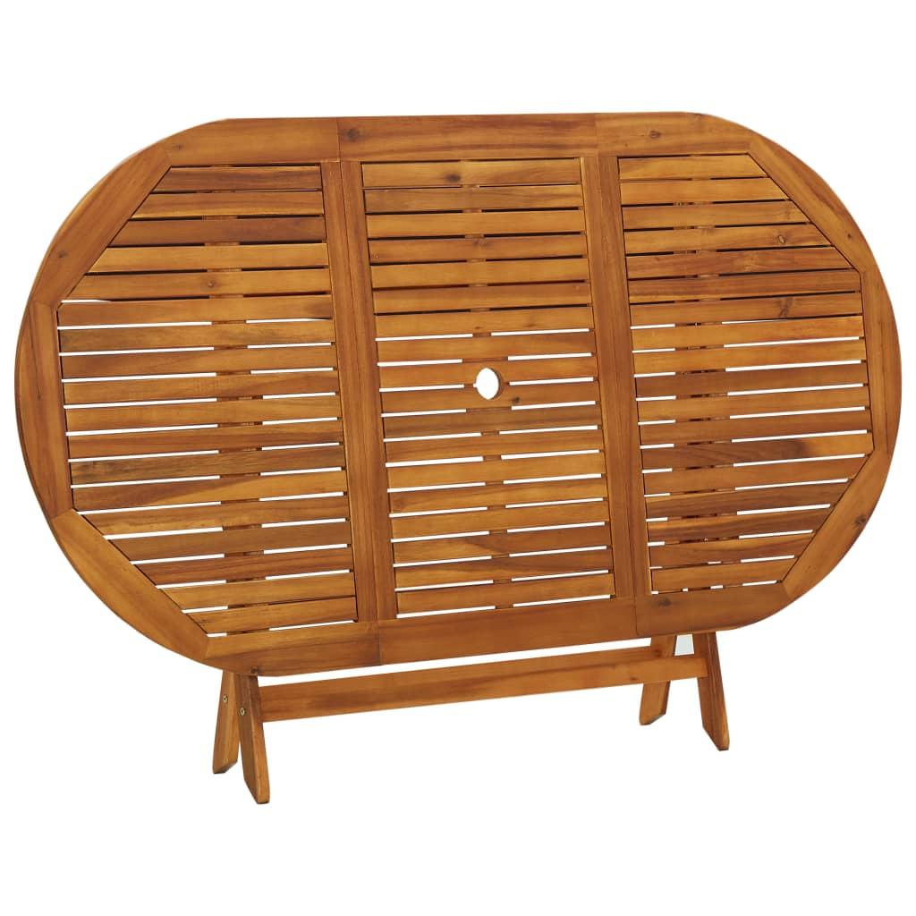 Vidaxl mesa de comedor exterior madera de acacia - Mesa madera exterior ...