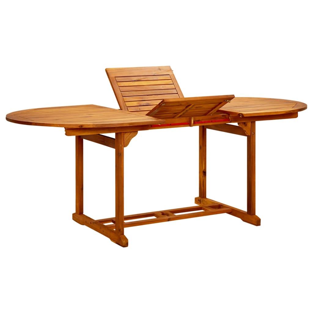 Acheter vidaxl table de salle manger d 39 ext rieur for Bois acacia exterieur