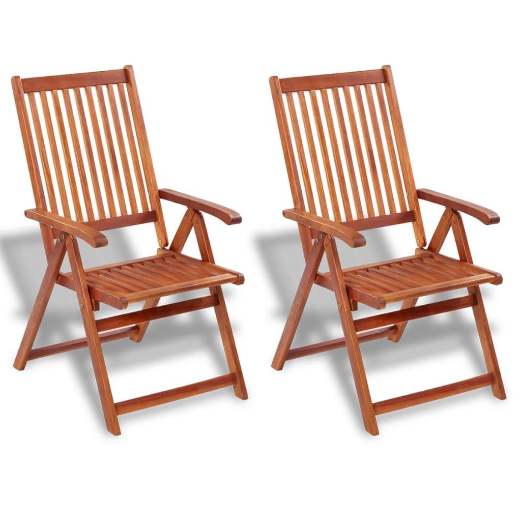 vidaXL Krzesło ogrodowe jadalniane z drewna akacjowego, 2 szt.
