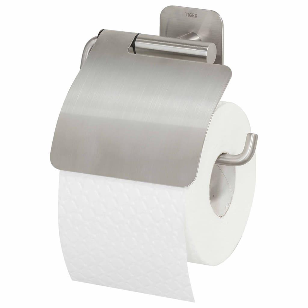 Tiger portarrollos papel higi nico colar con tapa plateado for Portarrollos papel higienico