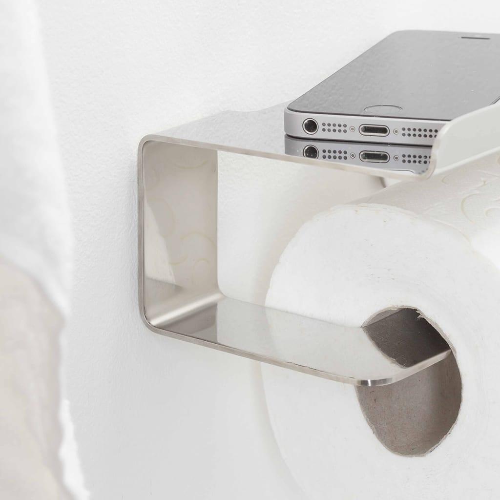 Tiger porta carta igienica con mensola colar cromato - Tiger accessori bagno ...