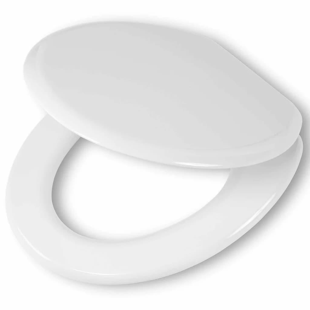 Afbeelding van Tiger Soft-close toiletbril Reno MDF wit 252350646