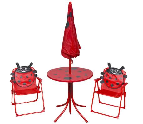 vidaxl vierteiliges kinder gartenm bel set rot im vidaxl. Black Bedroom Furniture Sets. Home Design Ideas