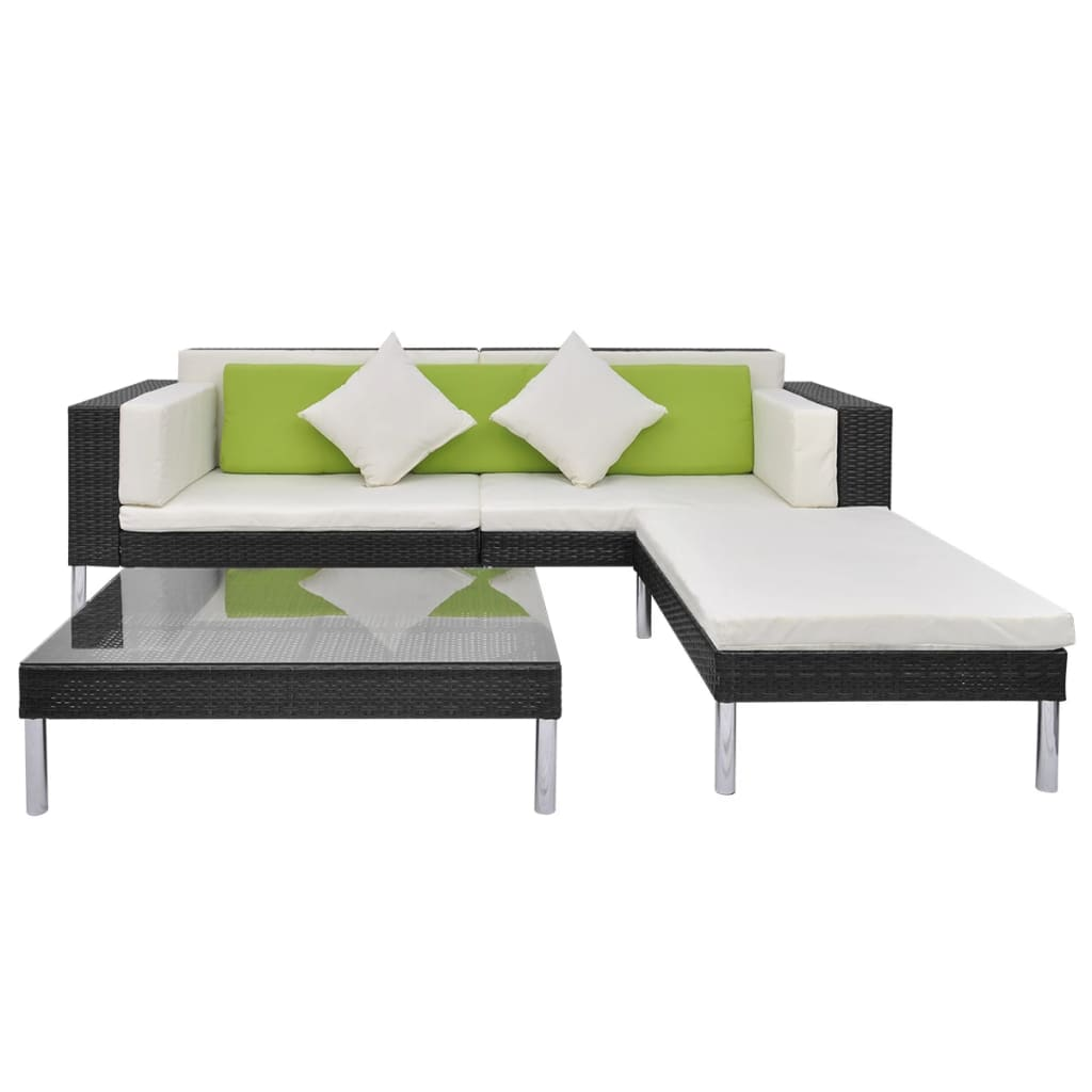 acheter vidaxl mobilier de jardin 17 pi ces en poly rotin. Black Bedroom Furniture Sets. Home Design Ideas