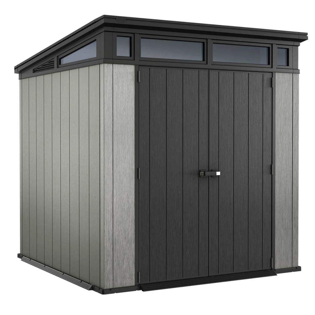 keter garden storage shed artisan 77 outdoor patio pent. Black Bedroom Furniture Sets. Home Design Ideas