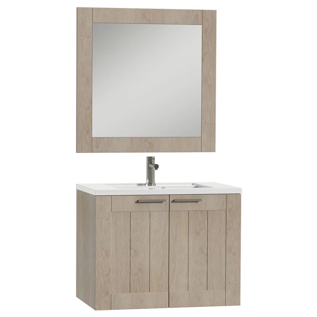 Acheter tiger meuble de salle de bain frames 80 cm ch ne blanc 1646323740 pas cher - Meuble salle de bain 80 cm pas cher ...