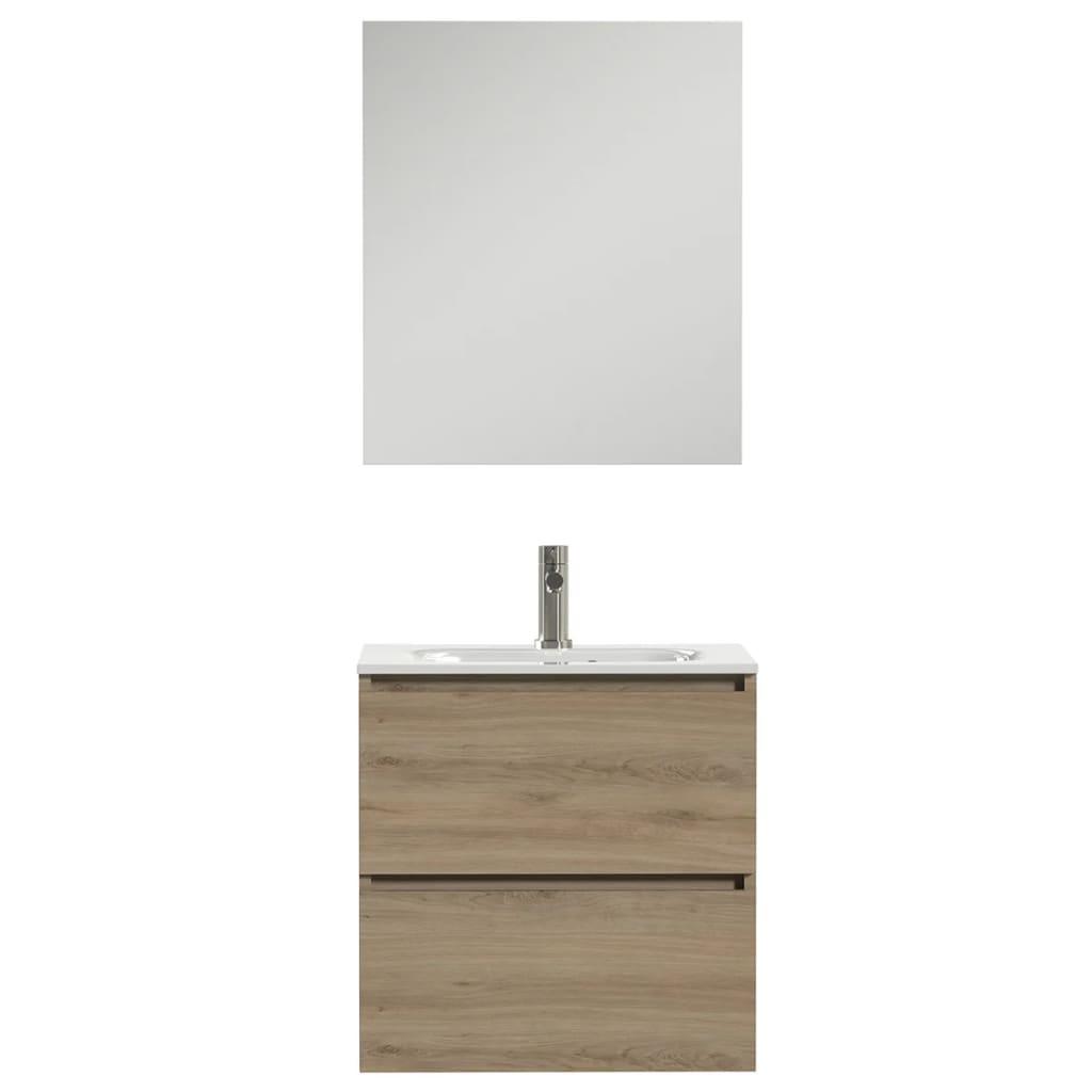 Tiger Zestaw mebli łazienkowych Loft, 60 cm, dąb i biel, 1644313200