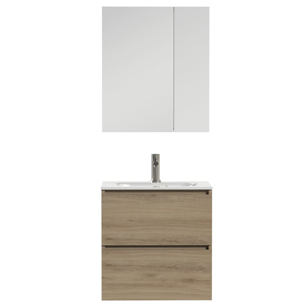 Afbeelding van Tiger Badkamer meubelset Loft 60 cm eikenhout wit 1644313202