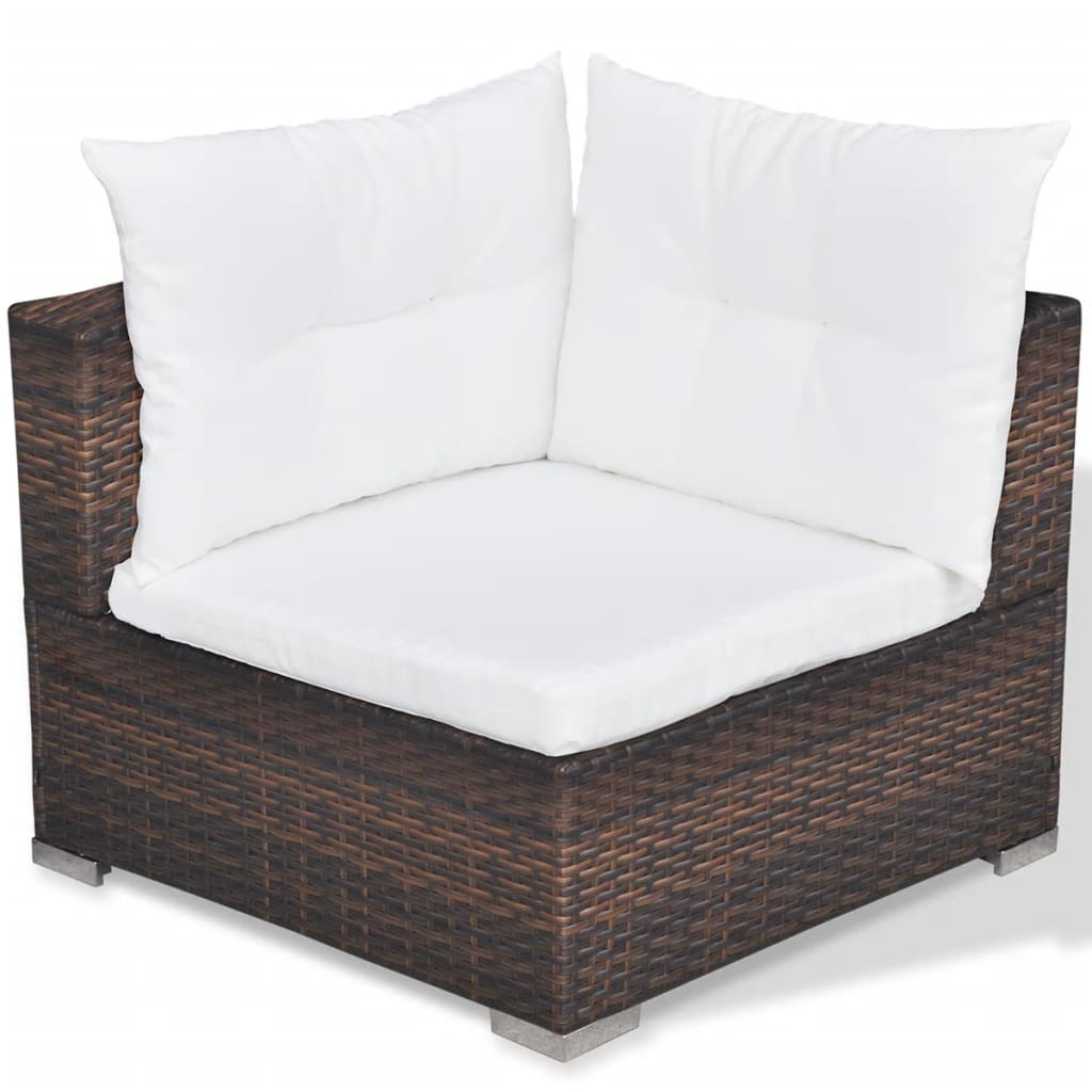 Vidaxl conjunto de sof de jard n de 14 piezas de mimbre for Conjuntos de sofas para jardin
