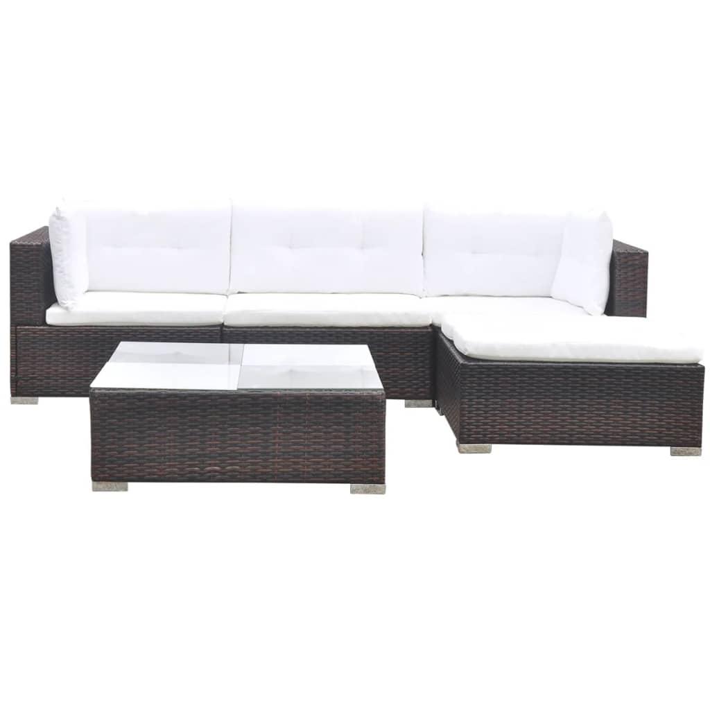 Vidaxl conjunto sof de jardim 14 p s vime for Sofa exterior jardim
