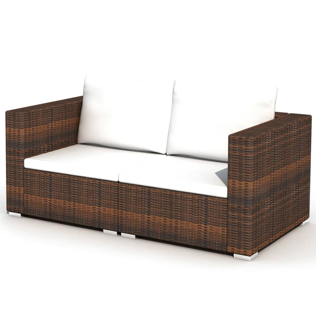 der vidaxl 28 tlg essgruppe lounge set braun poly rattan online shop. Black Bedroom Furniture Sets. Home Design Ideas