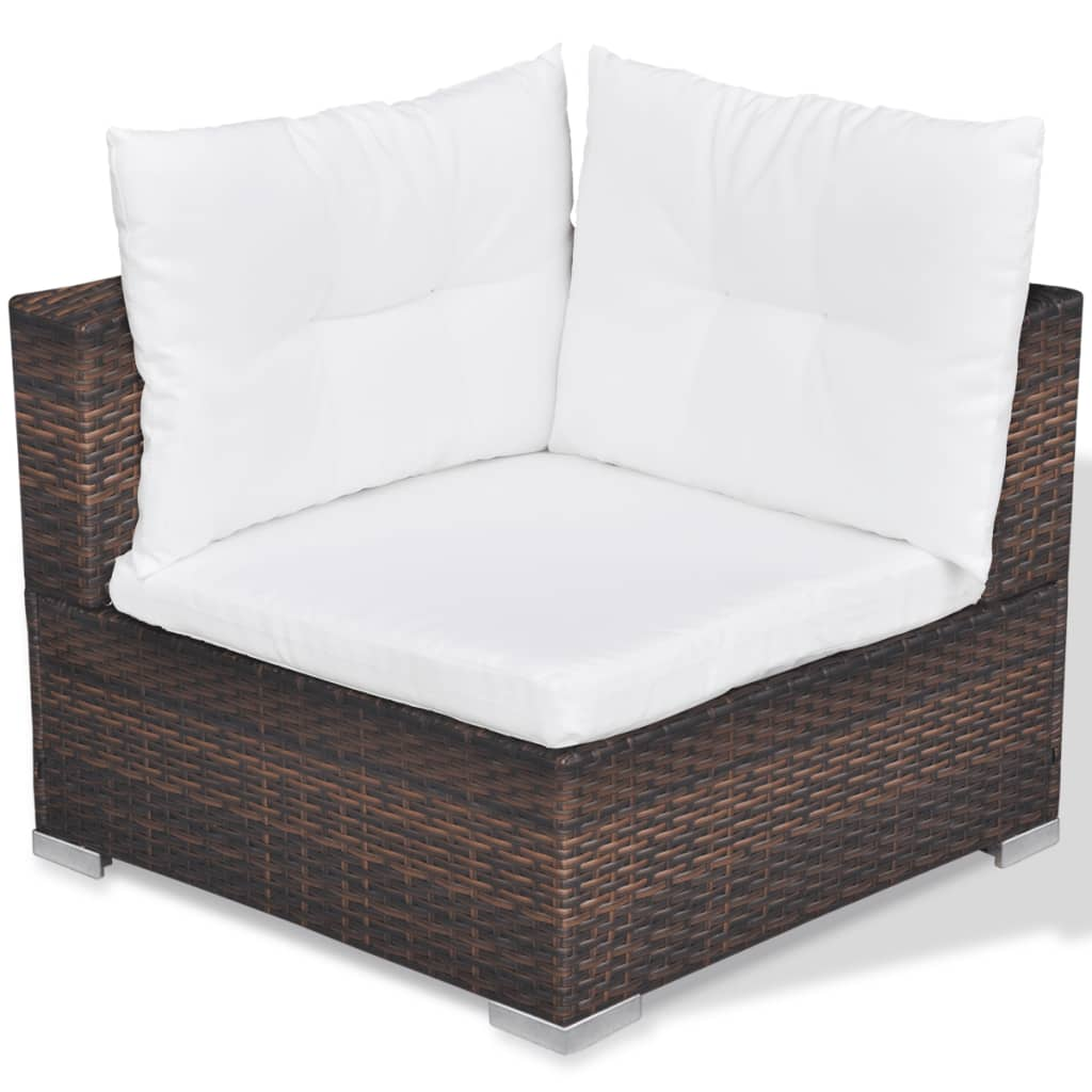 acheter vidaxl mobilier de jardin avec 28 pi ces marron rotin pas cher. Black Bedroom Furniture Sets. Home Design Ideas