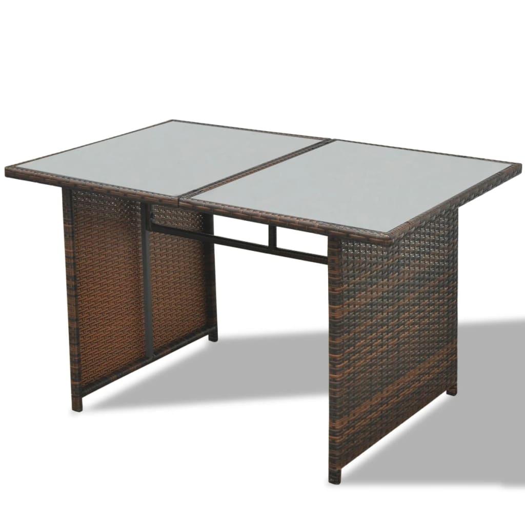 vidaxl 28 tlg essgruppe lounge set braun poly rattan. Black Bedroom Furniture Sets. Home Design Ideas