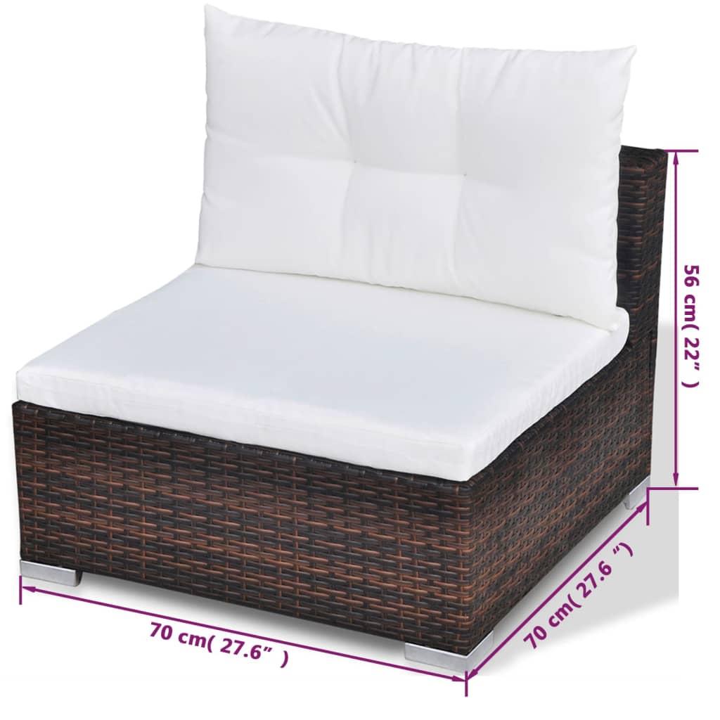 acheter vidaxl mobilier de jardin avec 28 pi ces marron rotin pas cher. Black Bedroom Furniture Sets. Home Design Ideas
