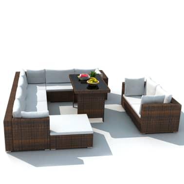 Acheter vidaxl mobilier de jardin avec 28 pi ces marron for Acheter mobilier jardin
