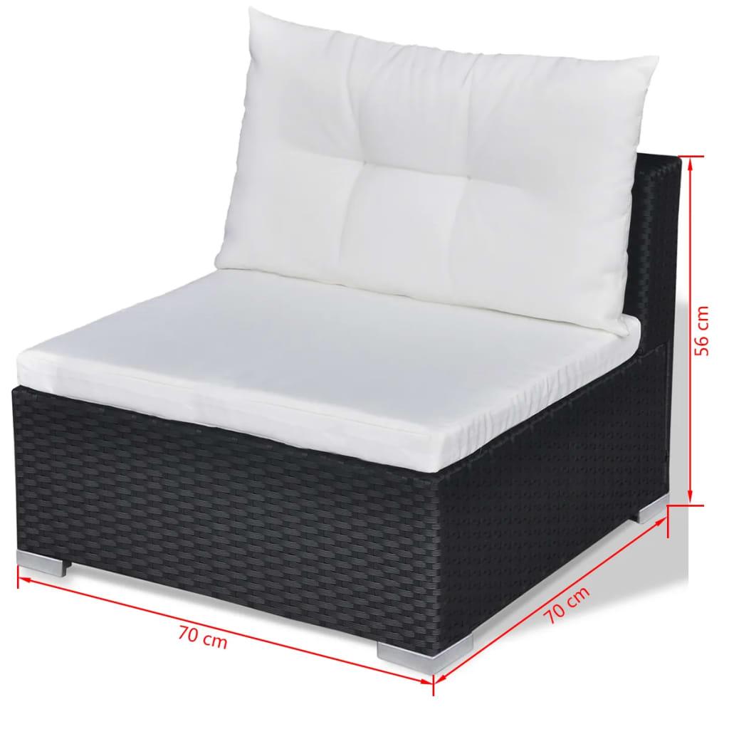 Acheter vidaxl mobilier de jardin avec 28 pi ces noir for Acheter des meubles pas cher
