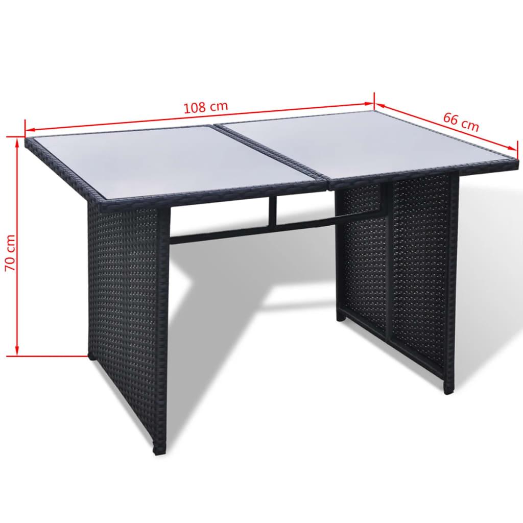 Acheter vidaxl mobilier de jardin avec 28 pi ces noir for Acheter mobilier de jardin