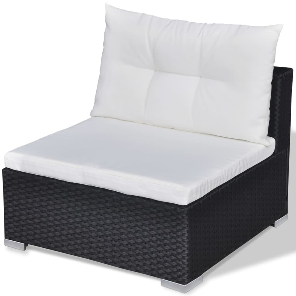 vidaxl lounge tuinset zwart poly rattan 28 delig. Black Bedroom Furniture Sets. Home Design Ideas