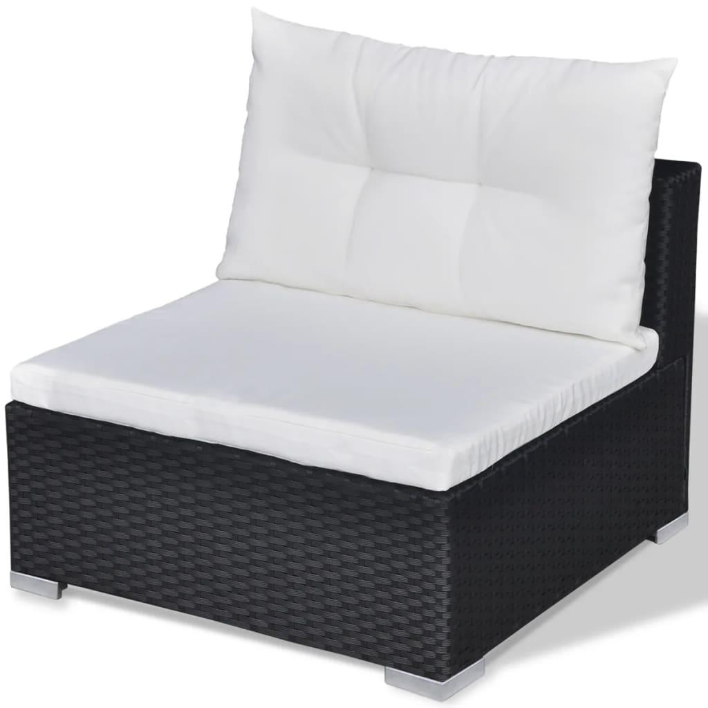 vidaxl lounge tuinset zwart poly rattan 28 delig. Black Bedroom Furniture Sets. Home Design Ideas
