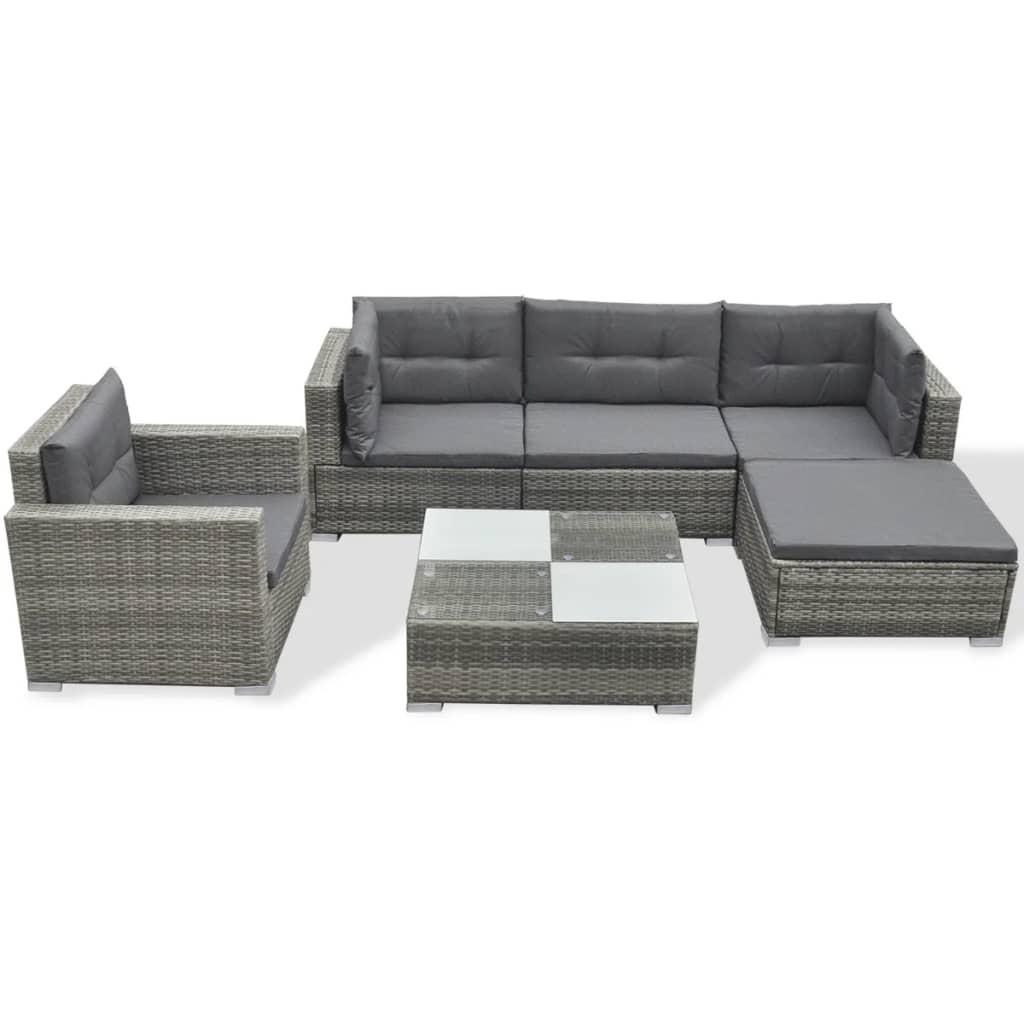 vidaXL Sofa Set 17-tlg. Poly Rattan Gartenmöbel Lounge Sitzgruppe ...