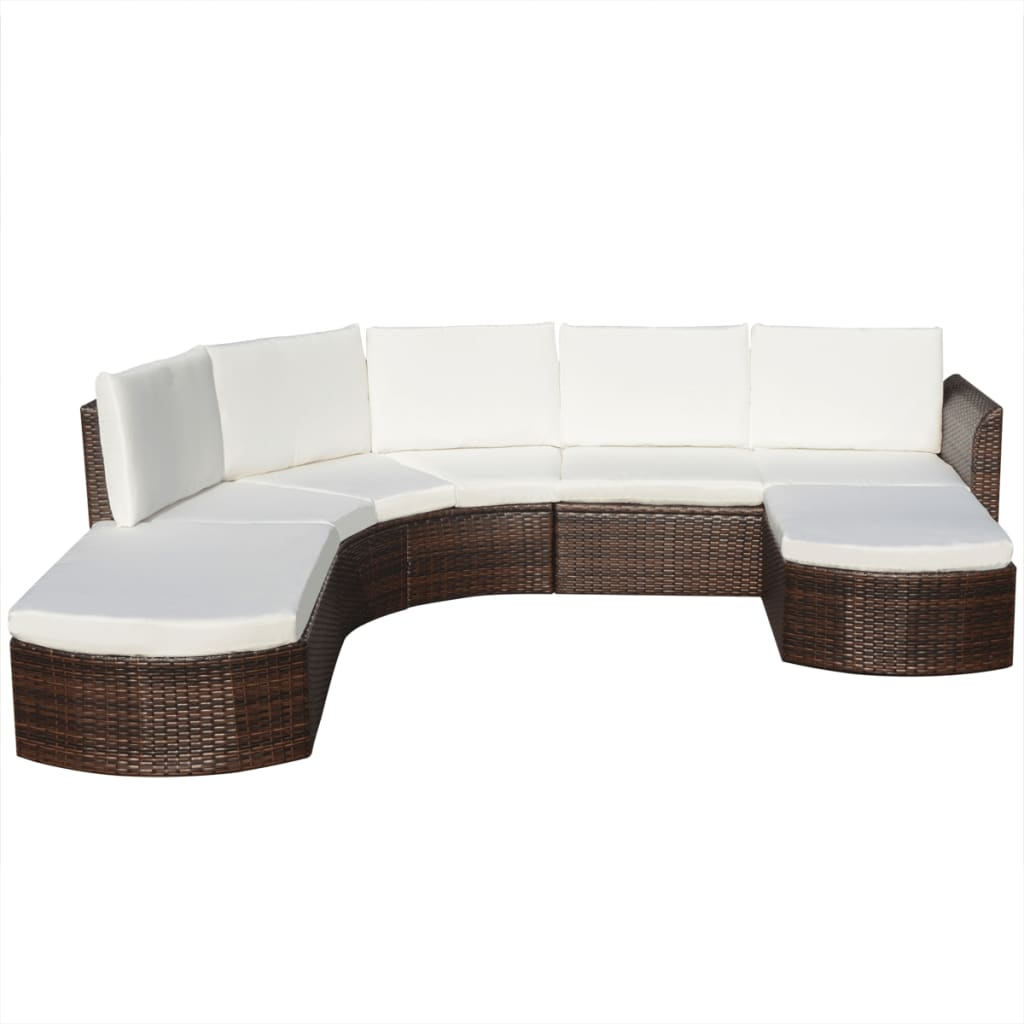 vidaxl 16 piece garden sofa set poly rattan brown. Black Bedroom Furniture Sets. Home Design Ideas
